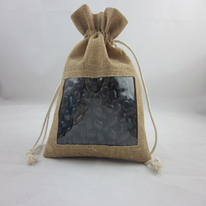 Factory directly jute bag with PVC clear window
